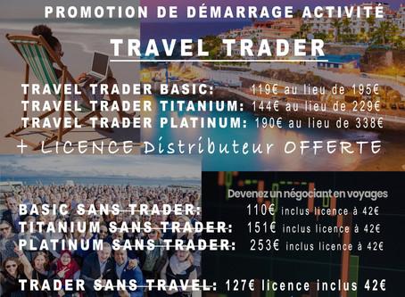 """Promotion Travorium """"Travel Trader"""": Frais d'adhésion + licence partenaire offerts!!!"""