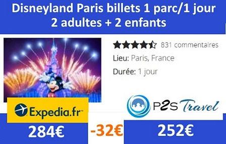 P2STravel: billets Disneyland paris