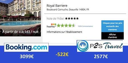 P2STravel: hôtel Royal Barrière Deauville