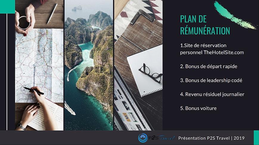 plan de rémunération p2s travel 2020