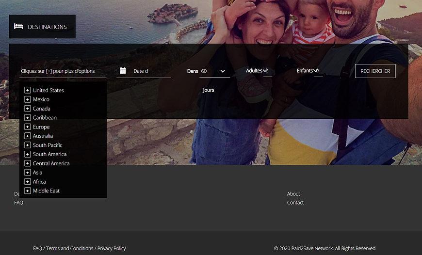 Site réservation séjours Getaways (Dreamcation Itrip)