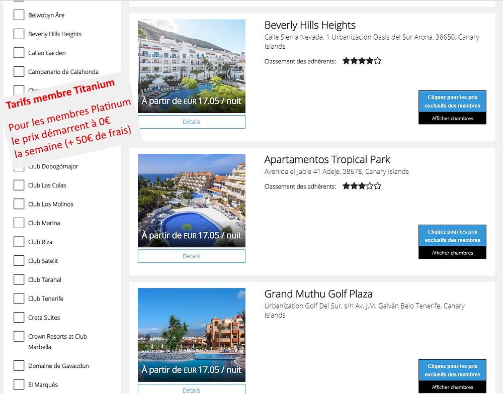 P2S Travel: Séjours Getaways (Dreamcation) à Tenerife dans les îles Canaries pendant les vacances