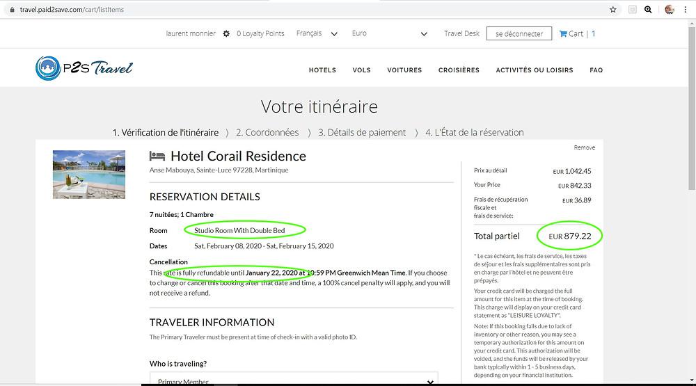 7 nuits pour 2 personnes à l'hôtel 3 étoiles Hotel Corail Residence à la Martinique Studio lit double, sans petits déjeuners, annulation gratuite  Tarif sur Booking = 1050€ Tarif sur P2S Travel = 879€  Soit 171€ moins cher sur le site de réservation privé P2S Travel