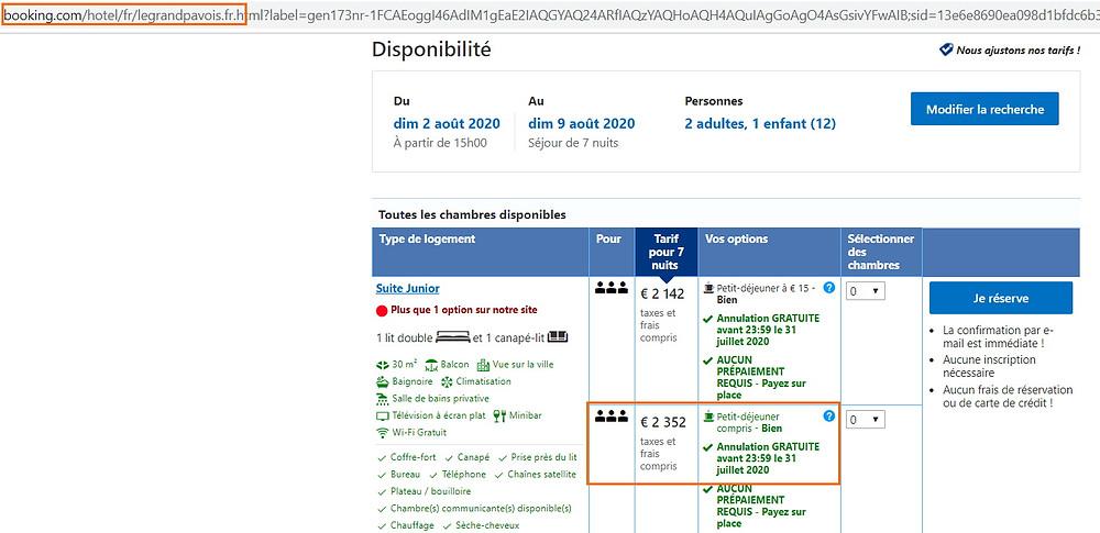 Tarif hôtel Le Grand Pavois Antibes en août sur Booking