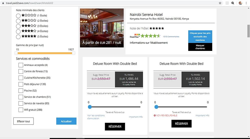 P2S Travel bon plan hôtel Kenya: Nairobi Serena Hotel