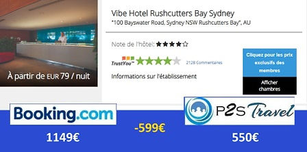 P2S Travel: Vibe Hotel Rushcutters Bay Sydney