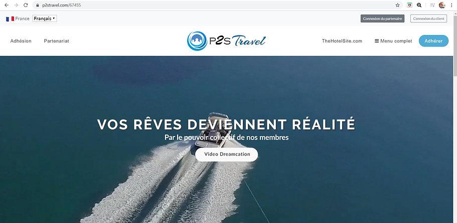 site officiel p2s travel accès membres