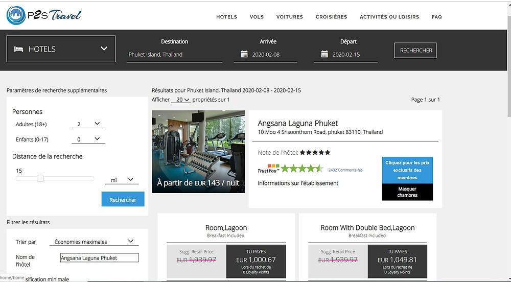 p2s travel: bon plan hôtels pas cher Phuket Thailande