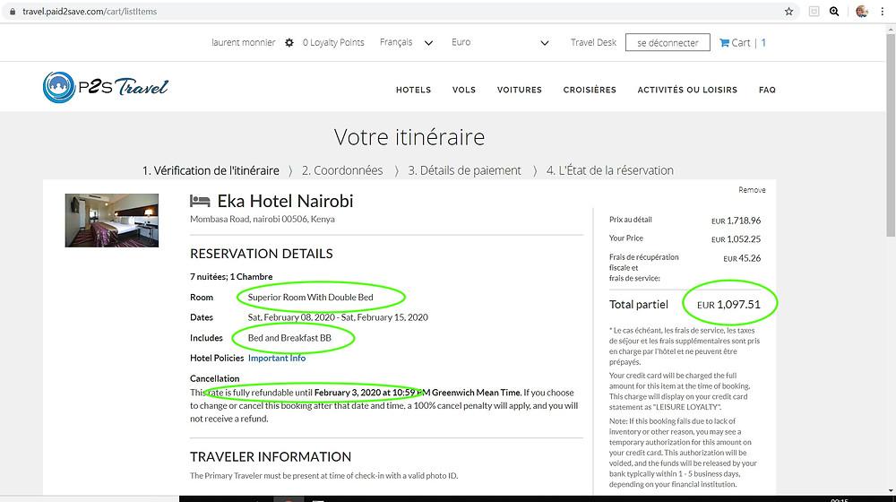 7 nuits pour 2 personnes à l'hôtel 3 étoiles Eka Hotel Nairobi à Nairobi au Kenya, petits déjeuners inclus, annulation gratuite  Tarif sur Hotels;com = 1650€ Tarif sur P2S Travel = 1097€  Soit 553€ moins cher sur le site de réservation privé P2S Travel !!