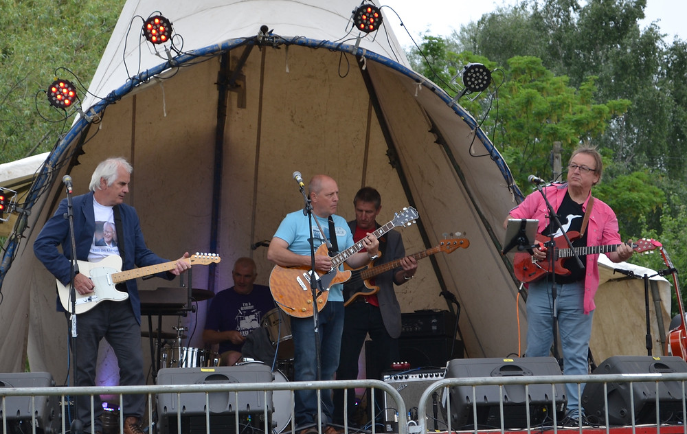 Playing with guest Andy at Strawberry Fair