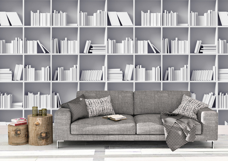 Item # 1298 White bookcase