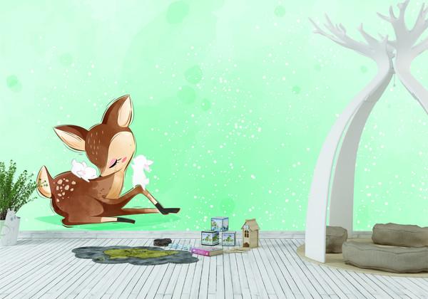 Deer and Bear murals-01