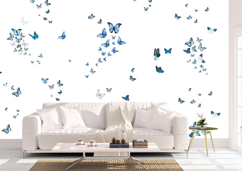 Item #1483 Scattered Blue Butterflies