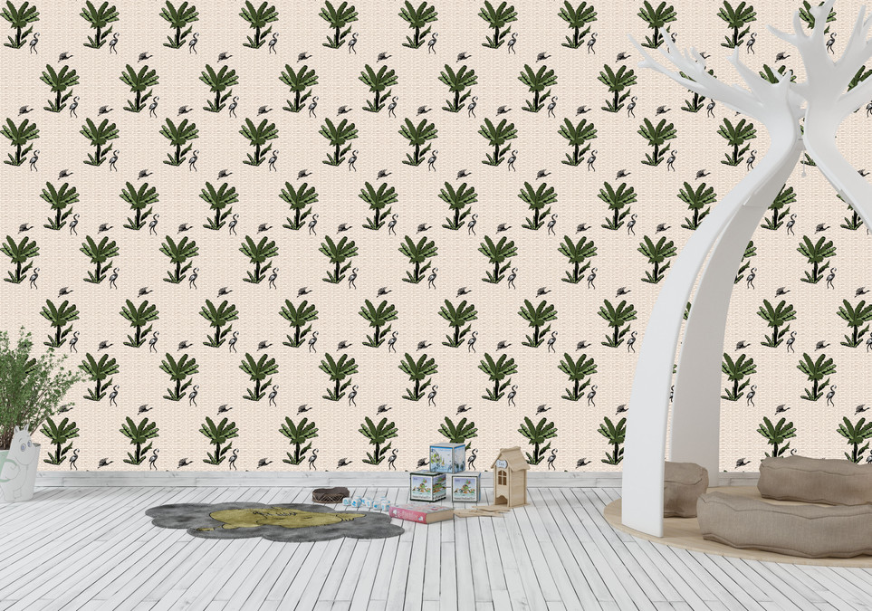 Dior Inspired Palm Tree Wallpaper