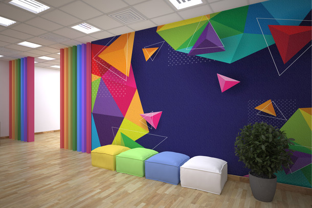 Colorful Triangle Absract
