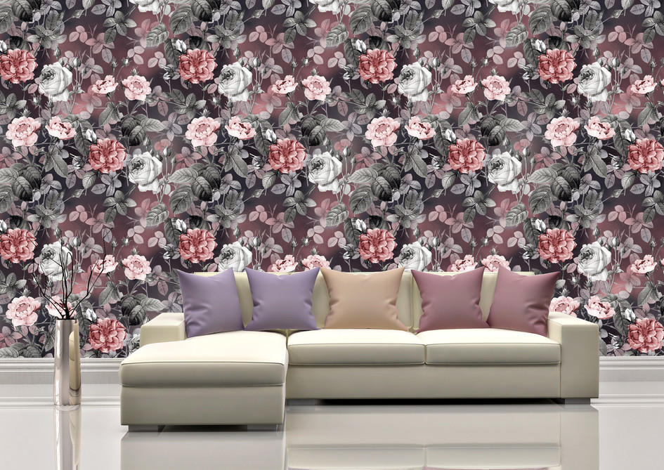 Item # 1299 Pink and Grey Floral