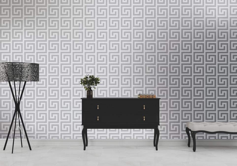 Versace Inspired Grey Wallpaper