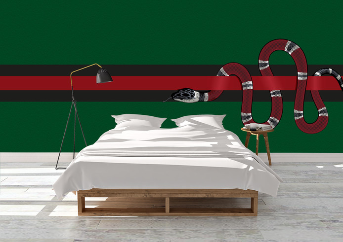 Gucci Inspired Snake Wallpaper