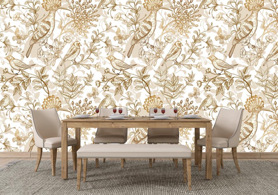 Gold Bird Wallpaper