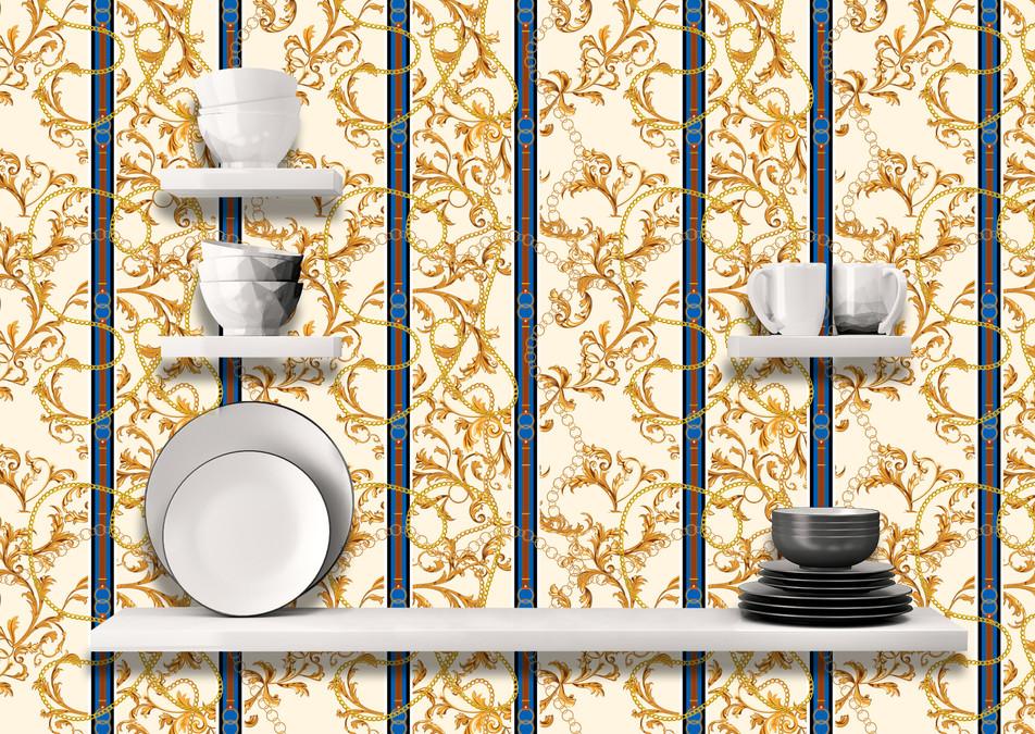 Versace Inspired Chain Wallpaper