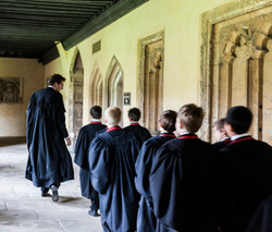 Daniel Hyde with the Choristers