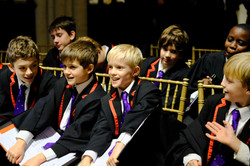 choristers smiling