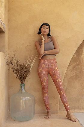 Indigo Luna 'Batik' Legging Sari Ochre