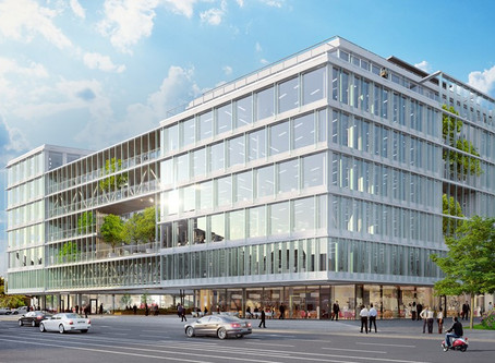 Visionary, the modern office building in Prague 7 developed by Skanska, has received LEED Platinum
