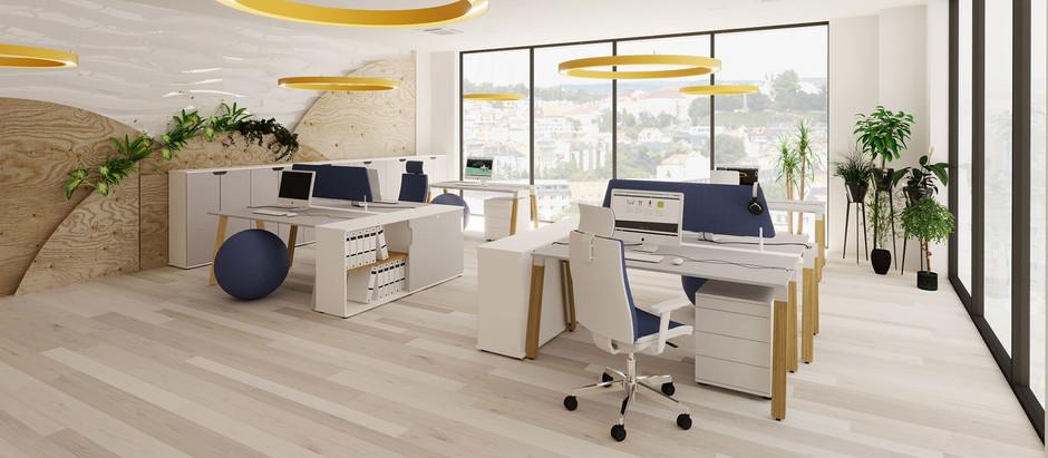 Letošní trendy v kancelářích – živé rostlinné stěny, tmavé odstíny či rozdělení na speciální zóny