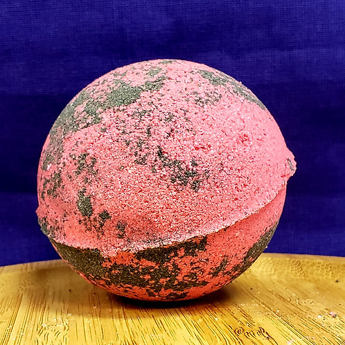 CBD infused Black Raspberry Bath bomb 3.5oz