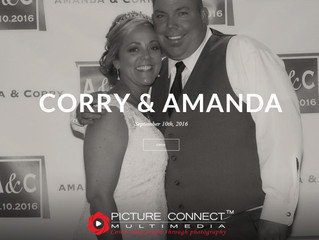 "Cory and Amanda treated their guests as VIP by a ""red-carpet"" style open-air photo booth s"