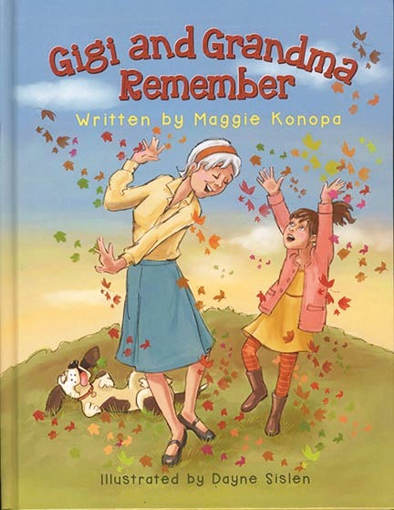 Book cover design for a children's picture book about Alzheimer's Disease by Dayne Sislen