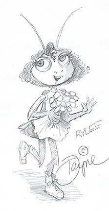Roach cartoon character study by Dayne Sislen