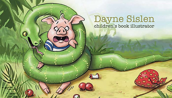 Dayne Sislen's illustration of a pig in a pickle.