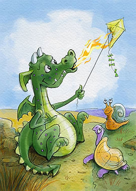 Whiff the Dragon with friends illustrated by Dayne Sislen