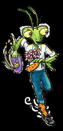 Praying Mantis children's book character