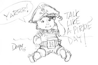 Talk like a Pirate cartoon by Dayne Sislen