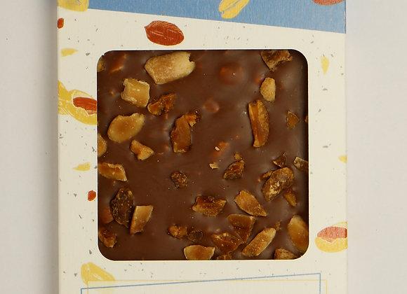 Tablette chocolat lait bio cacahuètes grillées salées