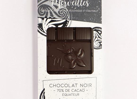 Tablette chocolat noir 70% fleur de sel