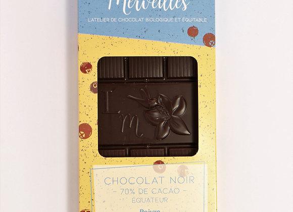 Tablette 70% de cacao Poivre de Jamaique