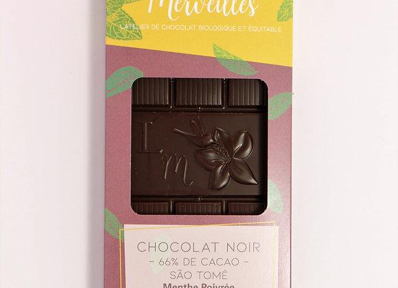 Tablette Menthe Poivrée 66% de cacao