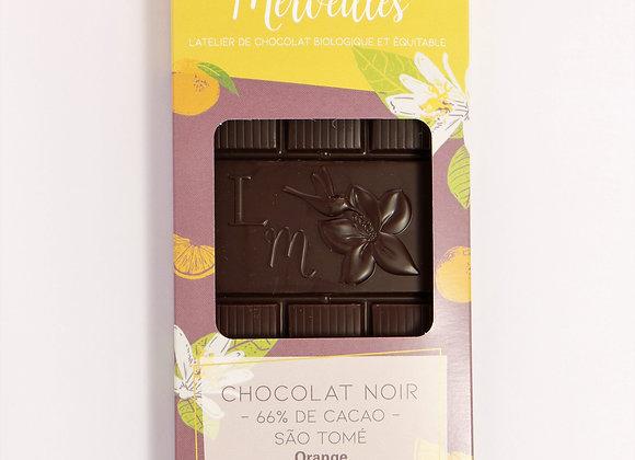 Tablette à l'Orange 66% de cacao