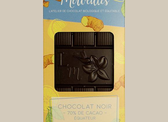 Tablette citron gingembre 70% de cacao