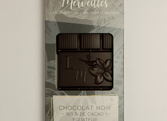 Tablette 100% de cacao Origine Equateur