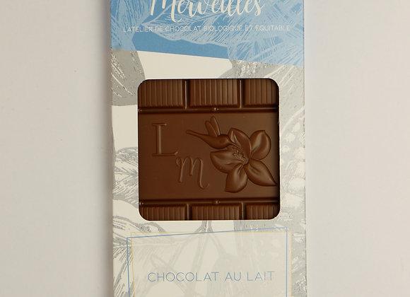 Tablette chocolat lait Bio