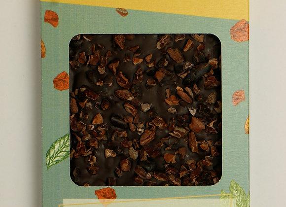 Tablette de Chocolat Noir 75% de cacao au grué de cacao