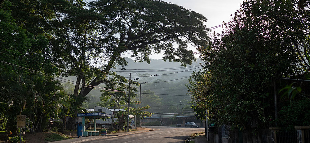 A bus stop in Herradura, Costa Rica