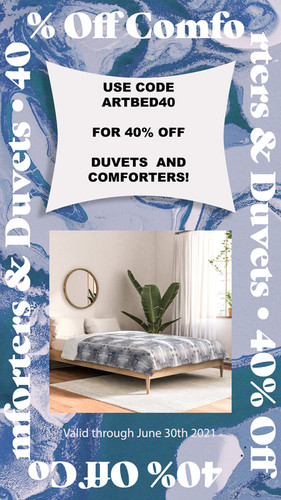 Duvet Comforter_Overlay 40% off