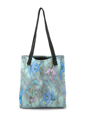 Color Spil in turquoise - Tote Bag