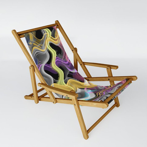 Wavy in yellow - Sling Chair